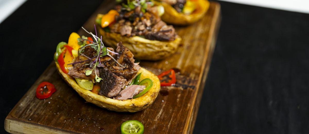 photo of korean beef potato skin dish