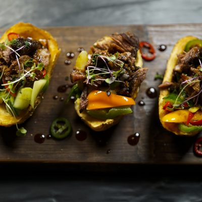 photo of korean beef potato skins
